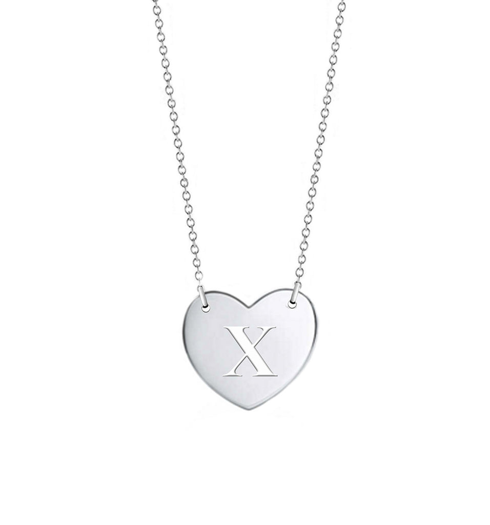 Heart Initial Necklace - All letters available