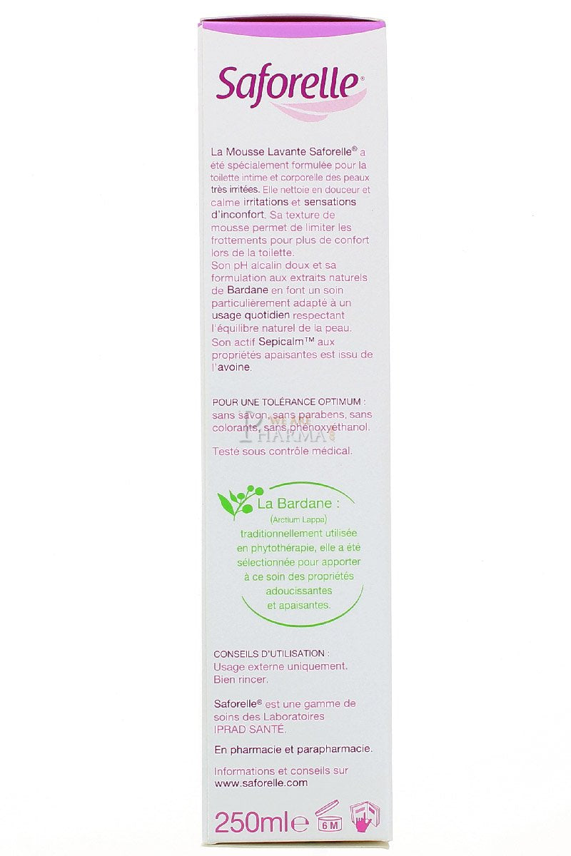 Saforelle Ultra Mild Cleansing Foam 250ml