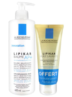 La Roche Posay Lipikar Baume Ap 400ml + Free Lipikar Cleansing Oil 100ml