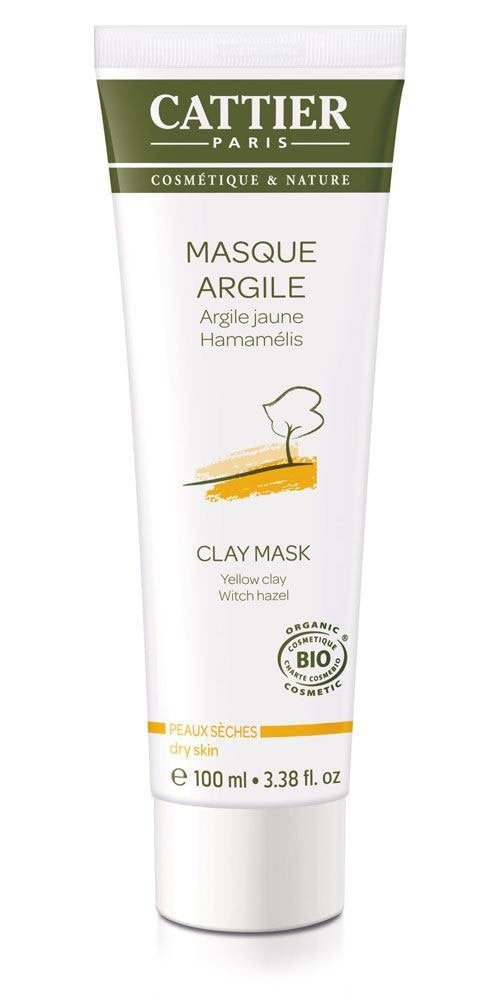 Cattier Organic Face Mask Yellow Clay for Dry Skin with Witch Hazel 100 Ml