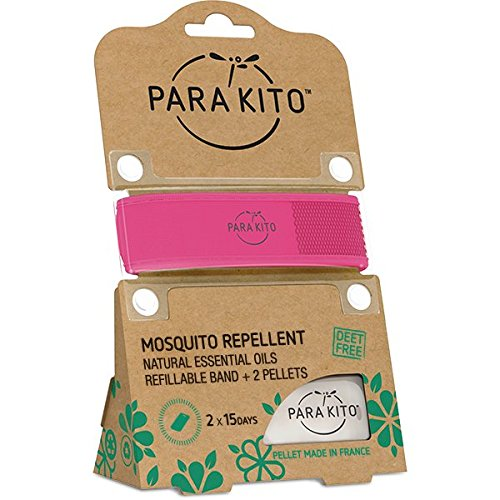 PARA'KITO All Natural Mosquito Repellent Wristband - Fuchsia