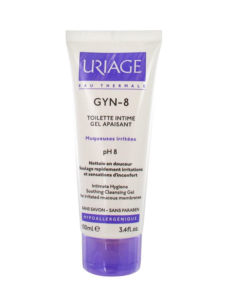 Uriage Gyn-8 Intimate Hygiene Soothing Cleansing Gel for Irritated Mucous Membranes 100 Ml