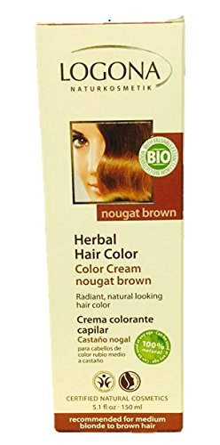 Logona Herbal Hair Color Cream, Nougat Brown, 5.10 Ounce