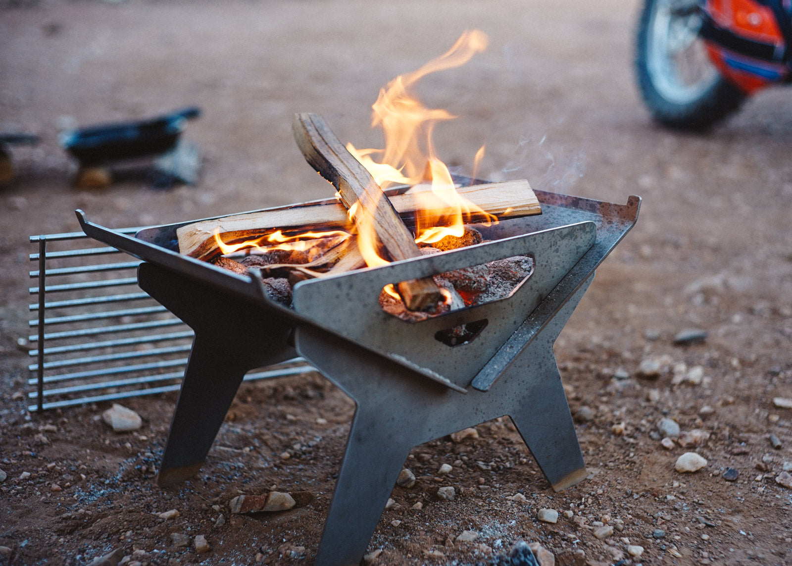 Small Firepit and Grill