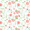 Peach Happy Floral Wallpaper