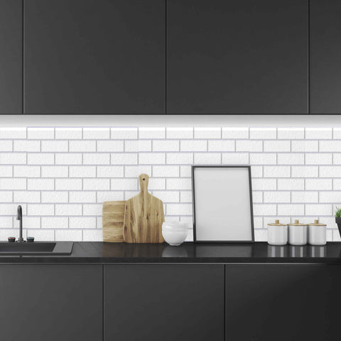 Polygonal Flower Tile Backsplash