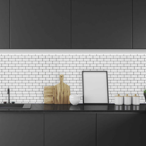 Black Aztec Tile Backsplash