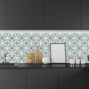 Teal Tile Backsplash