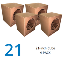 21-inch Cube Flat Pack (4-PACK) Wholesale Pricing Save 50% vs Singles $189.00/ea.