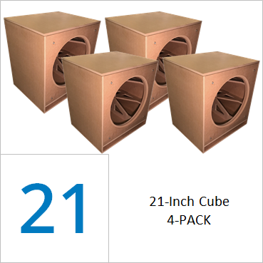 21-inch Cube Flat Pack (4-PACK) Wholesale Pricing Save 50% vs Singles $189.00/ea. + freight shipping