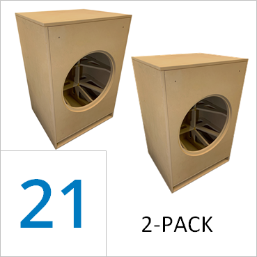 21-inch Full Marty Flat Pack (2-PACK) Save 25% vs Singles $313.50/ea. + freight shipping