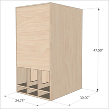 Devastator MkII 21-Inch Ported Horn in Baltic Birch Home Theater Edition (19Hz Tuning) - Single Unit