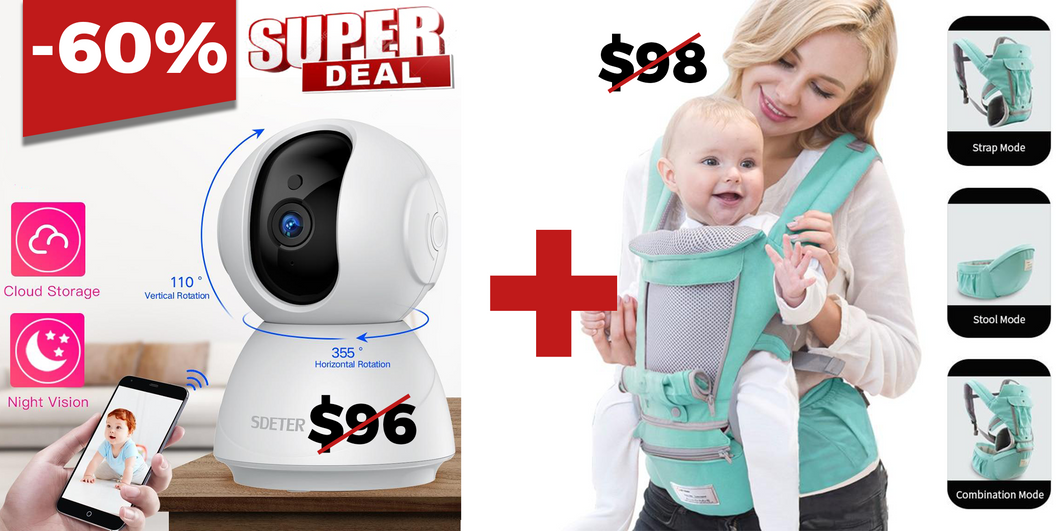 Package Baby Monitor + Baby Carrier