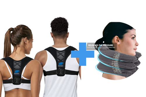 Package: Posture Corrector + Inflatable Neck Pillow
