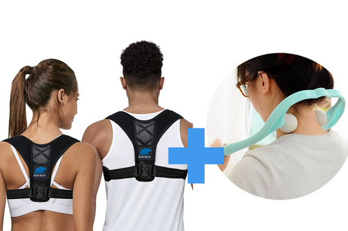 Package: Posture Corrector + Neck Massage