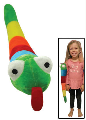 "20"" Rainbow arm snake PLUSH, TOY, THROWS"