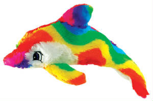 "12"" rainbow dolphin plush throw"