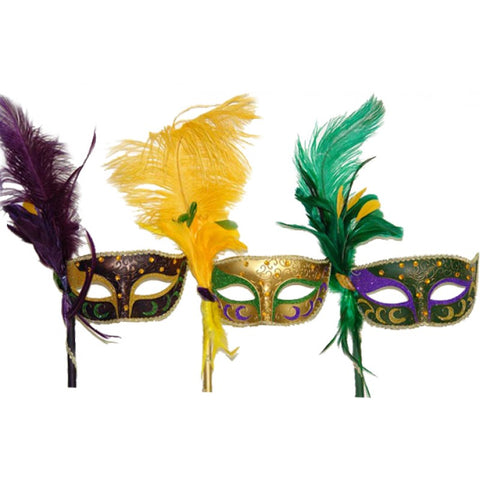 MG venetian mask with stick
