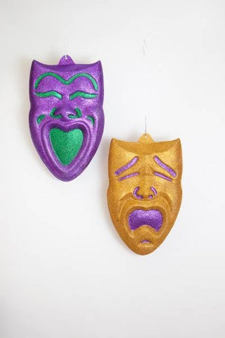 "25""wall deco comedy tragedy mask"