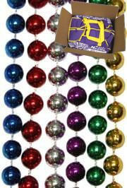 7mm 33in Round 6 Assorted Color Mardi Gras Beads