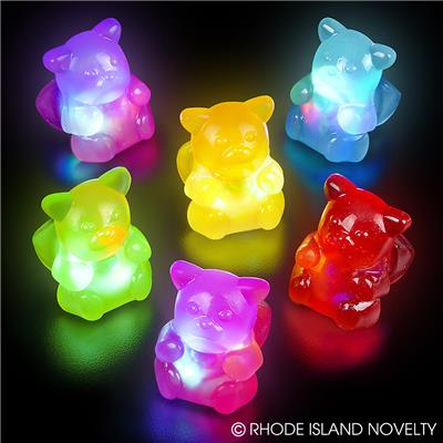 "1.5""flashing gummy bear rings"