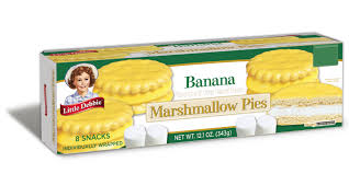 Little Debbie Banana Marshmallow Pies - 1 case