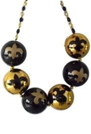 Bigger Balls Necklace: Fleur-De-Lis (saints)