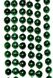 10mm 42in Metallic Green Beads