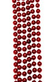 "33"" 7mm matellic  red beads"