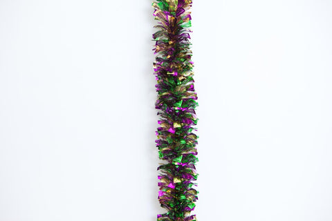 "4""x9' heavy shred mg garland"