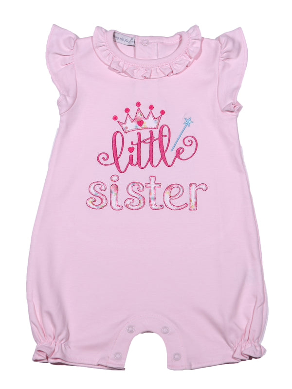 PSI-433 LITTLE SISTER WHITE ROMPER