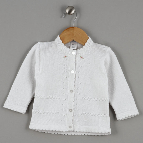 WCA-100 WHITE CARDIGAN