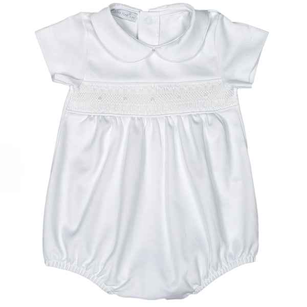 WHI-530 WHITE HAND SMOCKED PIMA BUBBLE