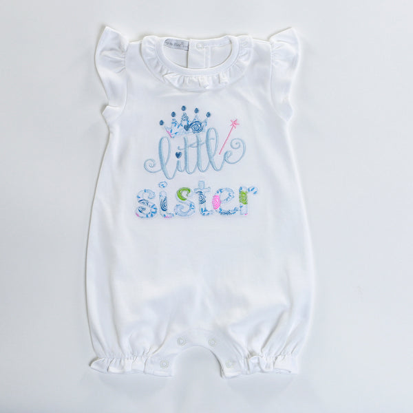 WSI-833 LITTLE SISTER WHITE ROMPER
