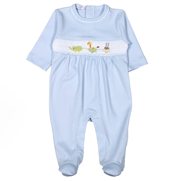 CRB-914 BABY TOYS HAND SMOCKED FOOTIE