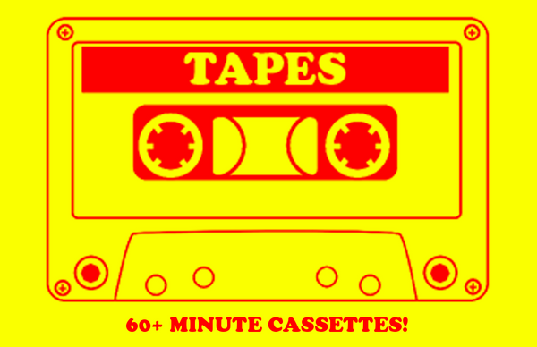Upgrade Length of Cassette Over 60 Minutes - 100 Tapes