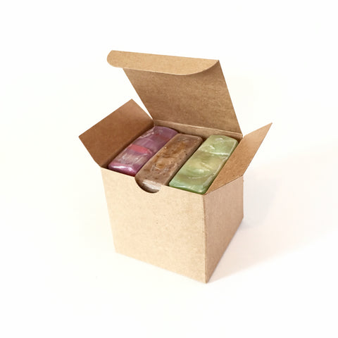 Shugar and Herbs Soap Gift Set, set of three, 4 ounce bars.