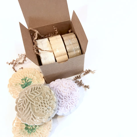 sugar and herbs, bath bomb boxed set