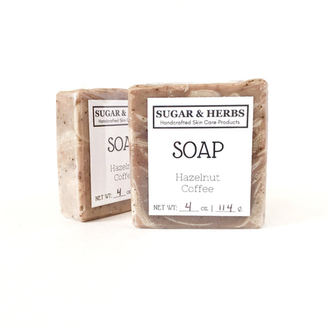 Sugar and Herbs hazelnut coffee scented soap