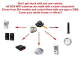 WF-490 : WiFi IP Wireless Spy Camera Hidden in AC Powered Speaker by SCS Enterprises ®