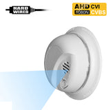 AHD-404 : 1080P 2.0MP HD Spy Hidden AHD/CVI/CVBS (composite video) Side-View Fake Smoke Detector Camera with 940nM Pinhole Lens