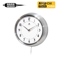 AHD-800 : 1080P 2.0MP HD Spy Hidden AHD/CVI/CVBS (composite video) Wall Clock Camera with 940nM Pinhole Lens