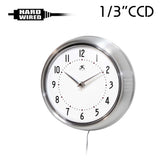"CCD-800W : 700TVL 1/3"" CCD Spy Hidden Wall Clock Camera with 940nM Pinhole Lens"