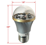 IR940BLB-6 : Total Invisible Super Wide 940nM IR Light Bulb Covert Lamp (6 LED illuminators) 20ft range, 160 deg, 120VAC