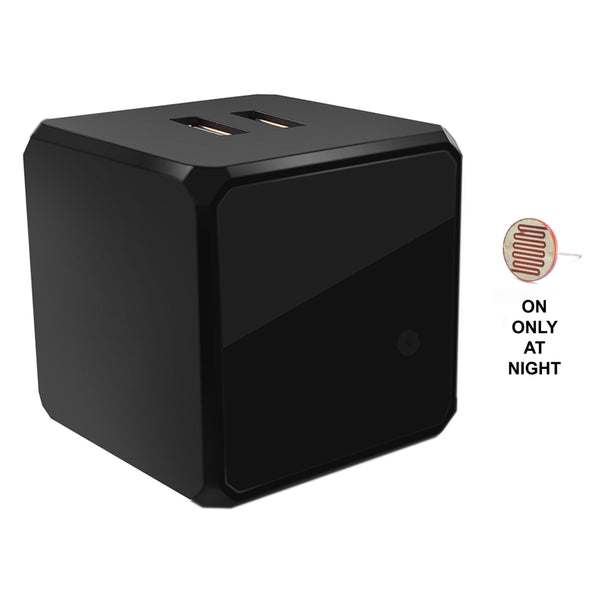 IR940C-6 : Total invisible Covert 940nM IR Charging Cube with light sensor (6 High Power LED illuminator array) 30ft ~ 50ft range, 150 deg, 5VDC