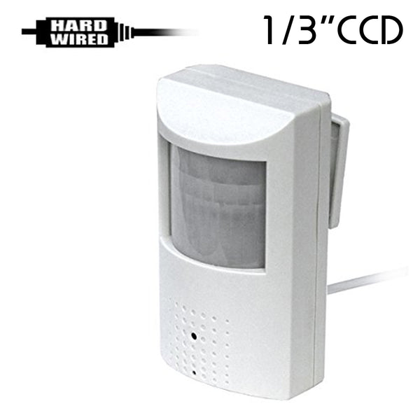 "CCD-450W : 700TVL 1/3"" CCD Spy Hidden Fake PIR Camera with 940nM Pinhole Lens"