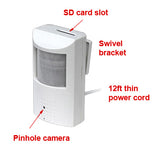 SD Card Self Recording Covert Spy Camera (Camera Hidden in Motion Detector PIR)