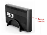 SD Card Self Recording Covert Spy Camera (Camera Hidden in External HD Case)