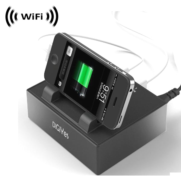 WF-140 : WiFi IP Wireless Spy Camera Hidden in USB Charging Station by SCS Enterprises ®