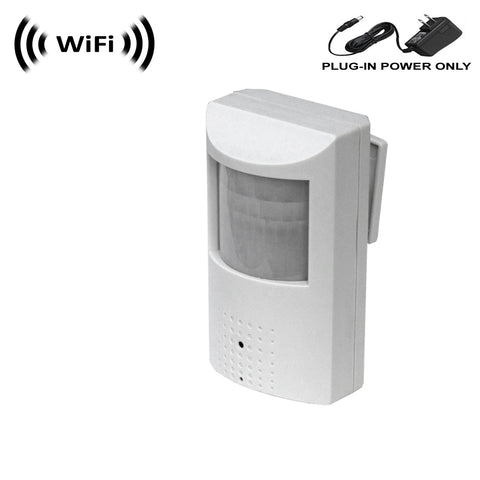 WF-450 : 1080p IMX323 Sony Chip Super Low Light Spy Camera with WiFi Digital IP Signal, Recording & Remote Internet Access, Camera Hidden in a PIR Motion Detector Housing